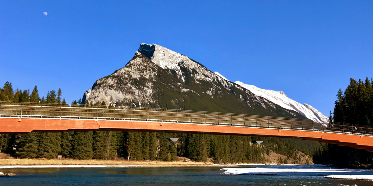 Mount Rundle and Bow River in Banff, Alberta.