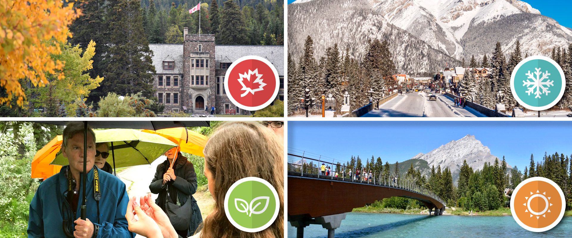 Banff, Alberta tours in any season of the year